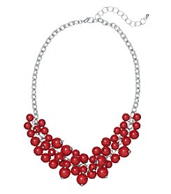 Studio Works® Red Beaded Shaky Necklace