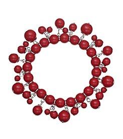 Studio Works® Red Single Row Beaded Shaky Bracelet