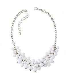 Studio Works® White Beaded Shaky Necklace