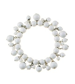 Studio Works® White Single Row Beaded Shaky Bracelet
