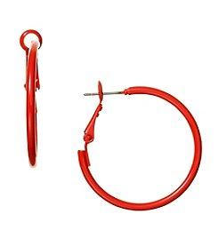 Studio Works® Orange Hoop Earring