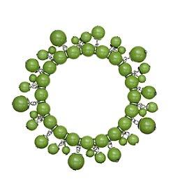 Studio Works® Green Single Row  Beaded Shaky Bracelet