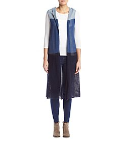 Collection 18 Color Blocked Knit Duster Vest