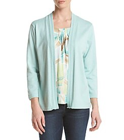 Alfred Dunner® Stained Glass Inset Layered Look Sweater