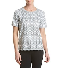 Alfred Dunner® Zig Zag Monotone Sweater