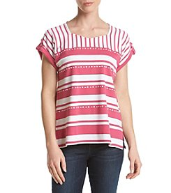 Alfred Dunner® Monotone Stripe Knit Top