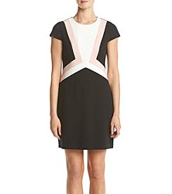 Vince Camuto® Color Block Crepe Dress