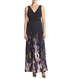 Xscape Pleatad Floral Dress