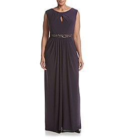 Adrianna Papell® Plus Size Embellished Long Gown