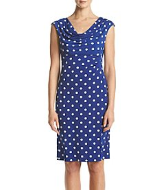 Connected® Dotted Ruched Dress