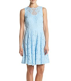 Gabby Skye® Lace Fit And Flare Dress