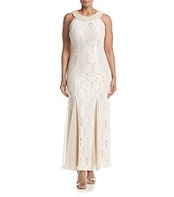 R&M Richards® Sheer Bottom Lace Dress
