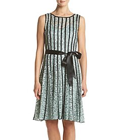 S.L. Fashions Floral Lace Dress