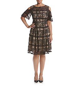 Gabby Skye® Lace Cold-Shoulder Dress