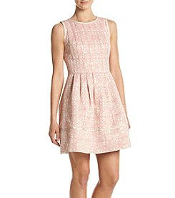 Vince Camuto® Jacquard Fit And Flare Dress