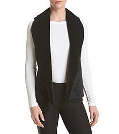 Calvin Klein Performance Faux Fur Sueded Mix Open Vest