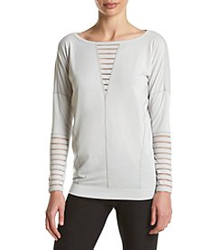 Betsey Johnson Performance® Burnout Stripe Pullover