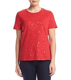 Studio Works® Petites' Print Crew Top