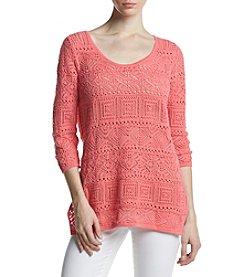 Jeanne Pierre® Crochet Sweater