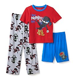 Komar Kids® Baby Boys 3-Piece Ninja Sleepwear Set