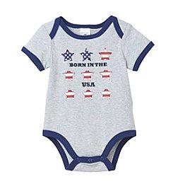 Cuddle Bear® Baby Boys Born In USA Creeper