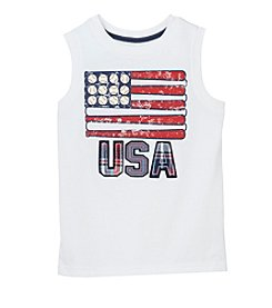 Mix & Match Boys' USA Flag Sleeveless Muscle Tee