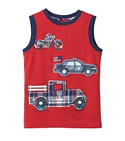 Mix & Match Boys' Car Truck Sleeveless Muscle Tee