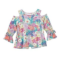 Jessica Simpson Girls' 7-16 Cold Shoulder Bell Sleeve Top