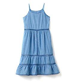 Jessica Simpson Girls' 7-16 Chambray Flowy Tank Dress