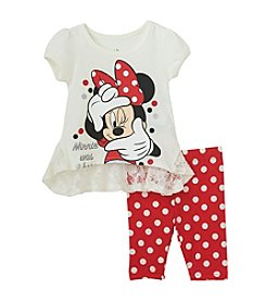 Nannette® Baby Girls' Minnie Tunic Dress-Leggings Set