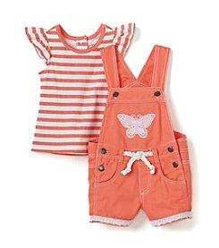 Nannette® Baby Girls' Top And Shortalls Set