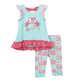 Nannette® Baby Girls' Owl Blouse And Leggings Set