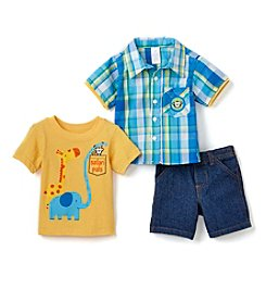Nannette® Baby Boys 3-Piece Safari Pals Set