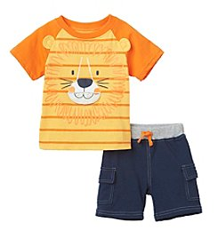 Nannette® Baby Boys Lion Shirt And Cargo Shorts Set