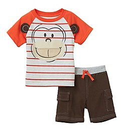 Nannette® Baby Boys Shirt And Short Monkey Set