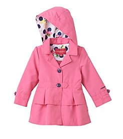 London Fog® Girls' 2T-4T Button Peacoat