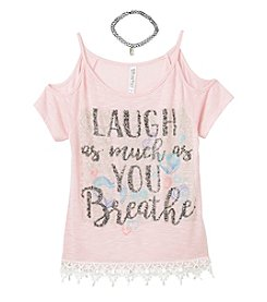 Beautees Girls' 7-16 Cold Shoulder Top