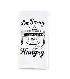 LivingQuarters I'm Sorry Flour Sack Kitchen Towel