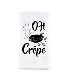 LivingQuarters Oh Crepe Flour Sack Kitchen Towel