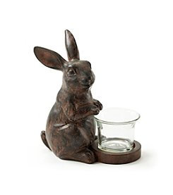 LivingQuarters Standing Bunny Candle Holder