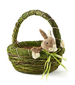 LivingQuarters Basket With Bunny