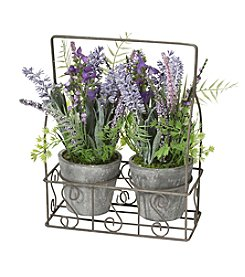 LivingQuarters Botanical Set Of Two Lavender Plants