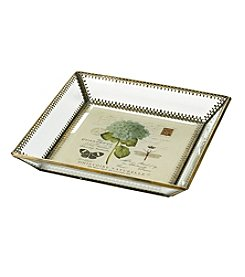LivingQuarters English Garden Glass Tray
