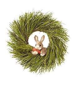 LivingQuarters Bunny Wreath
