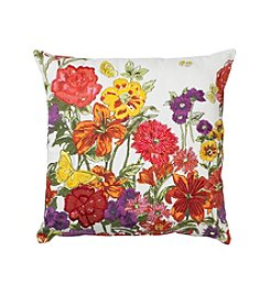 LivingQuarters English Garden Floral Pillow