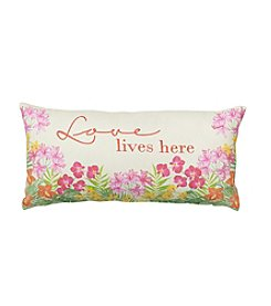 LivingQuarters Botanical Love Lives Here Pillow
