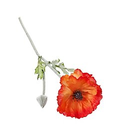 LivingQuarters Botanical Poppy Stem