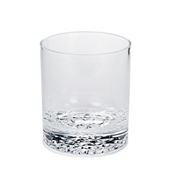 LivingQuarters Botanical Double Old Fashion Dot Bottom Glass