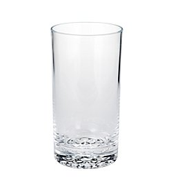 LivingQuarters Botanical Highball Dot Bottom Glass