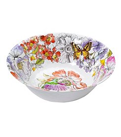 LivingQuarters Botanical Large Bowl